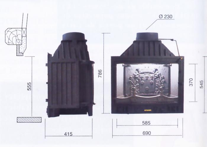 cheminee philippe insert 600. Black Bedroom Furniture Sets. Home Design Ideas